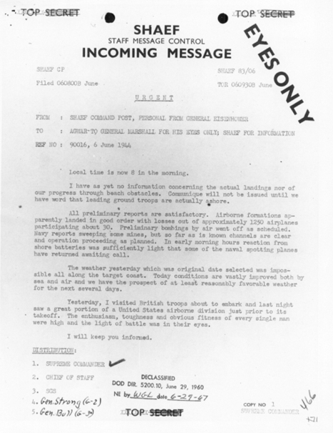 Primary Document #1 | General Dwight D Eisenhower | Scoop.it