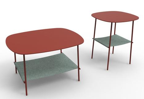 Felt and wood or metal/ Layer by Pulpo | Du mobilier, ou le cahier des tendances détonantes | Scoop.it