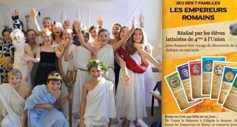 Des classes de latin créent un jeu de cartes | Salvete discipuli | Scoop.it