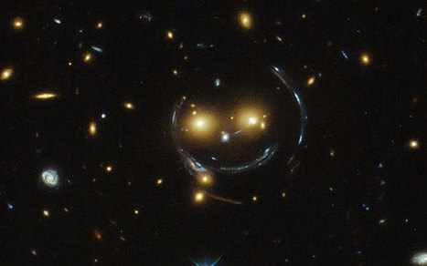 Hubble captures 'happy face' in space that smiles for the camera - Telegraph.co.uk | Smiles | Scoop.it