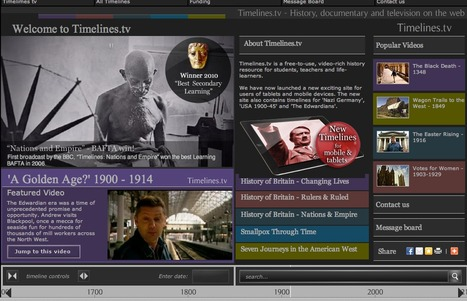 Timelines.tv - History, documentary and television on the web | K-12 Web Resources - History & Social Studies | Scoop.it
