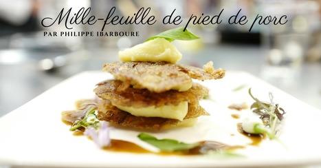 Mille-feuilles de pied de porc et pousses d'ail des ours par Philippe Ibarboure - Essor | Cuisine et cuisiniers | Scoop.it