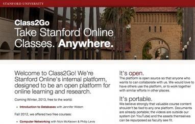 Class2Go, plateforme ouverte de formation en ligne à Stanford | E-pedagogie, apprentissages en numérique | Scoop.it