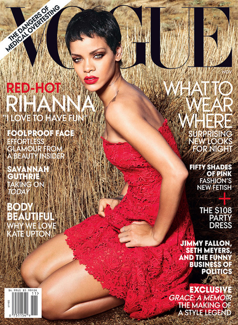 [cover + editorial] Rihanna by Annie Leibovitz for Vogue US November 2012 ! | Recording arts | Scoop.it