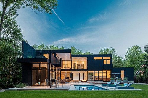 Jolie maison contemporaine 44 belvedere residence par guido constantino oakville canada for Maison moderne canada