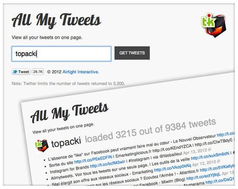 Des services pour sauvegarder son compte Twitter | L'Annuaire de Ressources Web | Communication digitale et stratégie de contenu éditorial | Scoop.it
