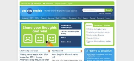 One Stop English - Review - Find English Lessons | Teaching (EFL & other teaching-learning related issues) | Scoop.it