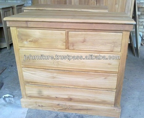 Teak Indoor Furniture Chest of Drawers Bedrooms Furniture, View Chest of drawers, Chest of Drawer Widuri 5 Drw Product Details from CV. JEPARA CRAFTER FURNITURE on Alibaba.com | Teak wood furniture | Scoop.it