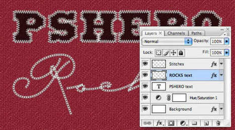 Hacer efecto de bordado con photoshop | MariaMorilla | Scoop.it