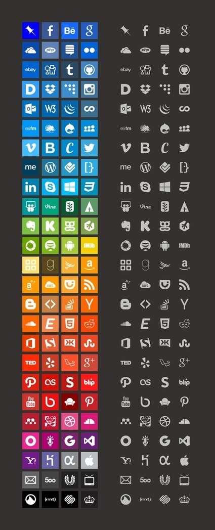 Download 100+ Brands Icons And Color Style Guides | The Official Photoshop Roadmap JournalP | Scoop.it