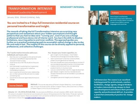 Full Immersion in Personal Transformation, January 2014, in Italy | Futurable Planet: Answers from a Shifted Paradigm. | Scoop.it