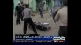 Indonesian police open fire on KNPB demonstration - West Papua - 23/10/12 | PAPUA MERDEKA ATAS DASAR KEADILAN