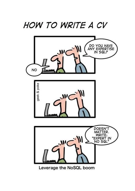 Geek And Poke: NoSQL | fun for geeks | Scoop.it