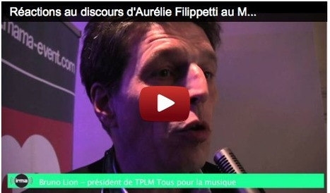 Snep, TPLM, Adami, CNV... : les réactions au discours d'A. Filippetti au MaMA | all of my favorites subjects as those related to music | Scoop.it