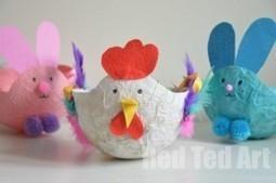 Easter Baskets for Kids - Papier Mache Hen | Trabalhos Manuais no Jardim de Infância | Scoop.it