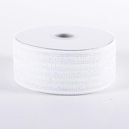 White Iridescent Line Laser Metallic Mesh Ribbon 25 Yards | FuzzyFabric | Scoop.it