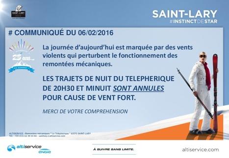 Saint-Lary : service de téléphérique indisponible ce soir pour cause de vent fort   Vallée d'Aure - Pyrénées   Scoop.it