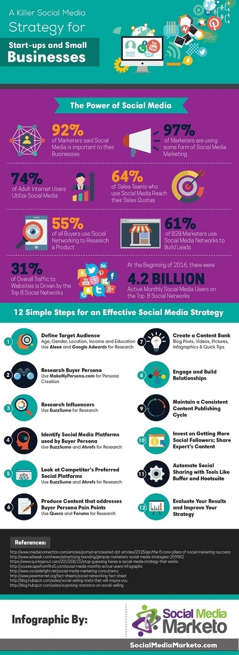 12-Step Guide for Social Media Marketing Success (Infographic) | Small Business Marketing | Scoop.it