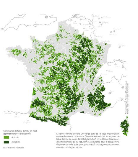 7. Les espaces de la FAIBLE densité démographique - Territoires 2040 | URBANmedias | Scoop.it