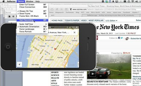 An Easy Way to Capture Live Video of Your iPhone's Screen ~ NY Times | Into the Driver's Seat | Scoop.it