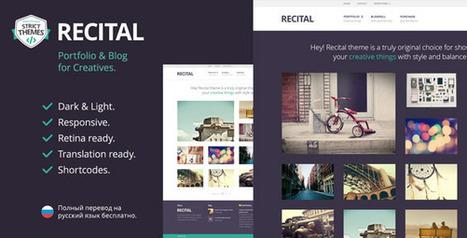 Recital: Portfolio & Blog for Creatives Download | Best Wordpress Themes | Scoop.it