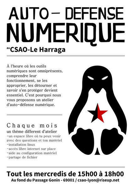 [Rebellyon.info] Atelier d'auto-défense Numérique au CSAO-Le Harraga | Libreactu | Scoop.it