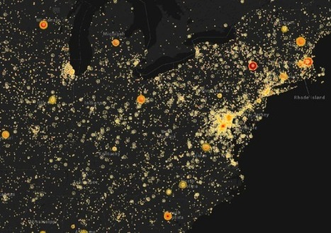 A New Map Reveals the Geography of American TV News | Networking the world - Espace et réseaux | Scoop.it
