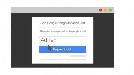 Ya podemos participar de Hangouts sin necesidad de tener cuenta en Google | Aprendiendoaenseñar | Scoop.it