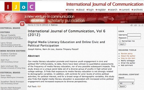 Digital Media Literacy Education and Online Civic and Political Participation | Social media and education | Scoop.it