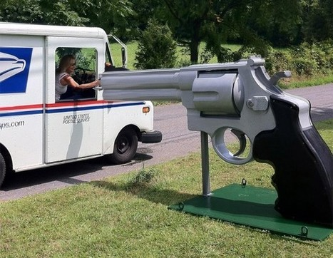 Giant .44 Magnum Mailbox: Let's Hope it's Not Loaded | All Geeks | Scoop.it