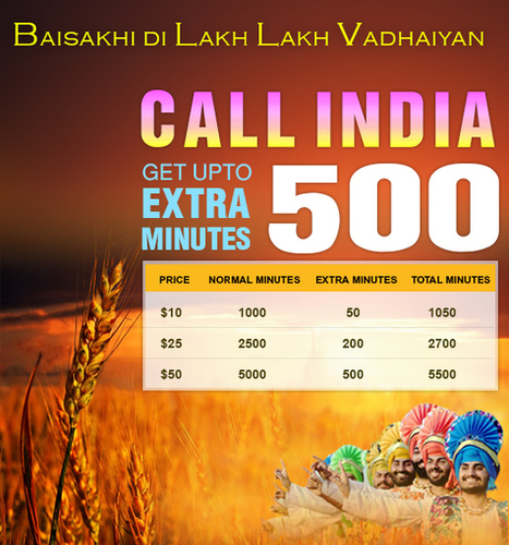 Get upto 500 extra minutes on this Baisakhi | Cheap International Calling | Scoop.it