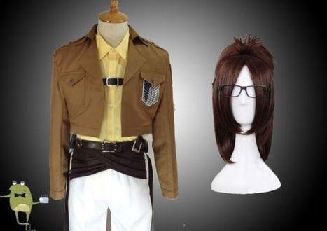Survey Corps Jacket Hanji Zoe Cosplay Costume + Wig | Attack on Titan Cosplay Costumes | Scoop.it