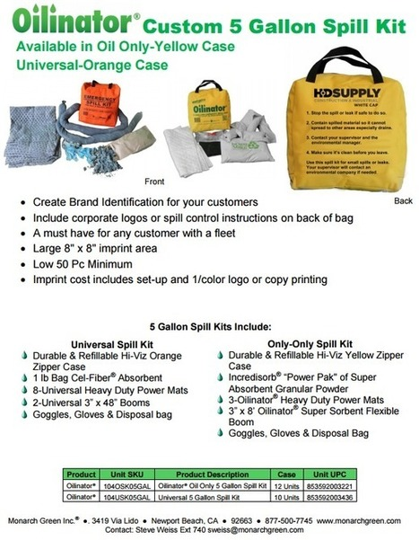 Your Customer's Logo on Our Spill Kits | Efficient, Cost Effective, & Cutting Edge Oil & Other Spill Cleanup Products - Monarch Green, Inc. - (877) 500-SPILL (7745) | Home and Garden | Scoop.it