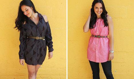 2 Ways to Turn a Men's Shirt into a Chic Shirt Dress | Little Black Dress | Scoop.it