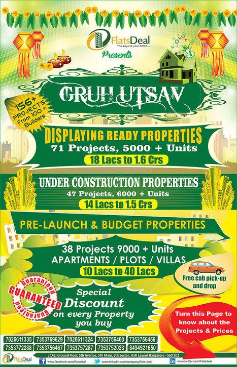 GruhUtsav on Flats and Apartments 14th-15th-jun-14 | FlatsDeal | Scoop.it