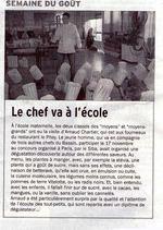 Arnaud Chartier, Chef du Restaurant le Pitey va à l'école - Bassin d'Arcachon   Le Bassin d'Arcachon   Scoop.it