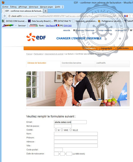 Attention, détection d'un vrai faux site EDF | 694028 | Scoop.it