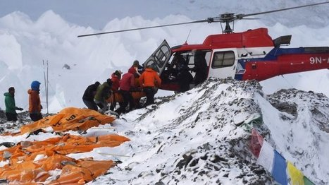 Asie - pacifique - En images : avalanches meurtrières sur l'Everest après le séisme   Tout le web   Scoop.it