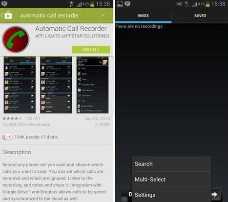 Graba tus llamadas telefónicas en Android de manera muy sencilla - Android Ayuda | Tecnología | Scoop.it