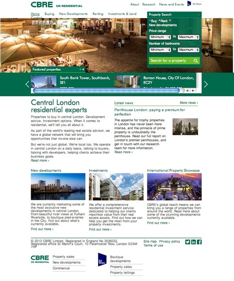 CBRE: Central London Residential lettings and sales through this site . . . | Digital Portfolio by Small Back Room | Scoop.it