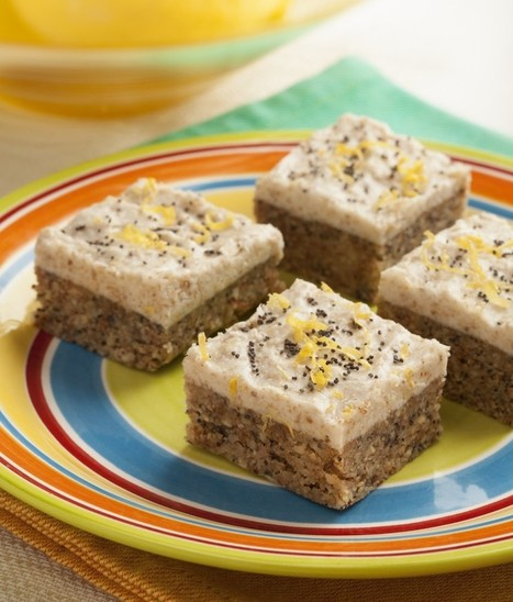 Raw Frosted Lemon Poppyseed Squares from Ricki Heller's ... | Obey The Raw | Scoop.it