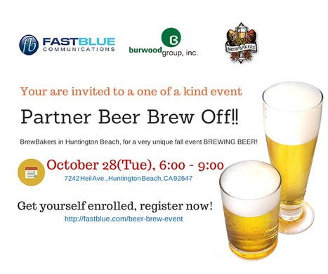 Enjoy Beer Brew Event at BrewBakers with Fastblue & Burwood Group on Oct 28, 2014 | Ethernet, MPLS, IP Flex, VoIP, Long Distance Services & more | Scoop.it