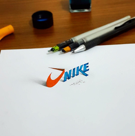 Electrical Engineer Creates 3D Calligraphy That Leaps Off The Page | STEAM | Scoop.it