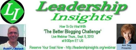[Webinar]  How to Go Viral with The Better Blogging Challenge | Baby Boomers Fitness Challenge | Lions Lifestyle | Scoop.it