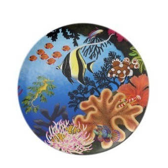 Colorful Pacific Coral Reef Life Plate from Zazzle.com | Dinner Plates | Scoop.it