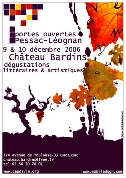 Portes ouvertes Pessac-Léognan, Chateau Bardins. Le vin dans ses oeuvres : Dégustations littéraires et artistiques.   CEPDIVIN - Les Imaginaires du Vin   Scoop.it