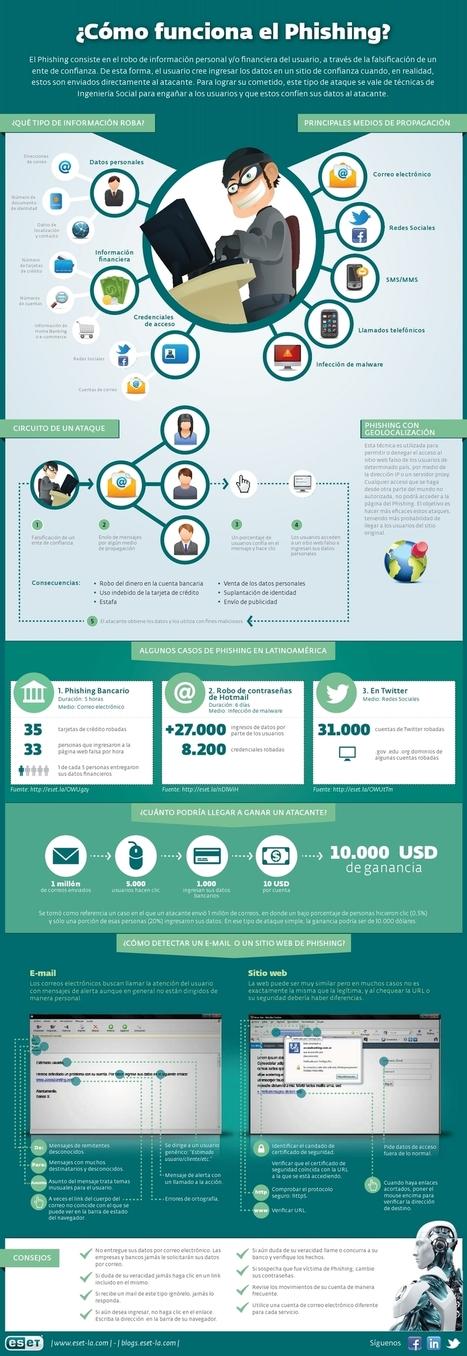 ¿Cómo funciona el phishing y el robo de identidad digital ? - | Informática 4º ESO | Scoop.it