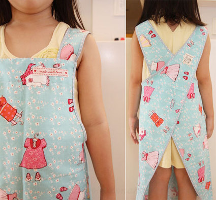 Free Pattern, Tutorial and Sewing Video – Cross back apron for adult and kids | sew | Scoop.it