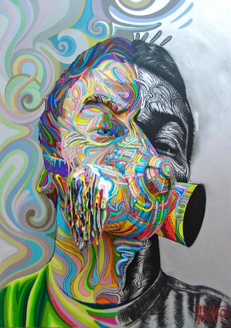 Les peintures en reliefs du street artist français Shaka | Ufunk.net | freehand illustration and graphic design | Scoop.it