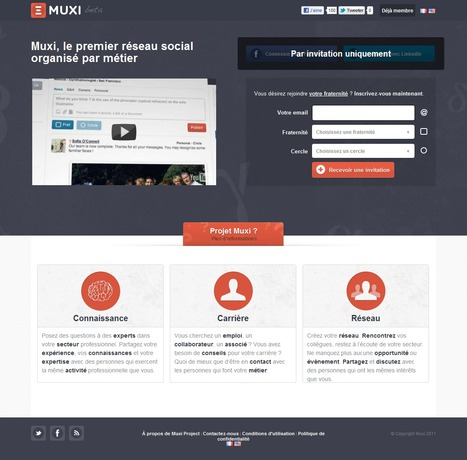 Muxi : réseau social organisé par métier | Time to Learn | Scoop.it